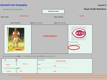 Baseball Card Geography Slide Show