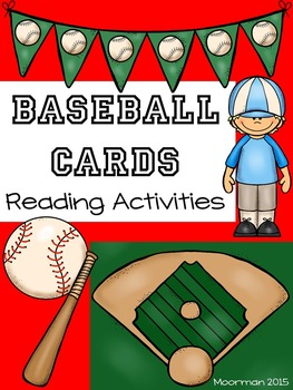 Baseball Cards Reading Activities/Centers Pack
