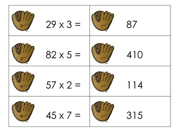 Baseball Centers: 6 Math and ELA activities for the intermediate grades