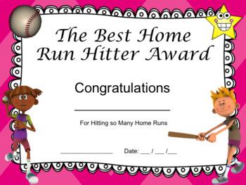Baseball Certificates! 15 Editable Baseball Awards