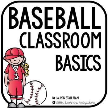 Baseball Classroom Decor