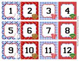 Baseball Classroom Decor Calendar Numbers