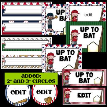 Baseball Classroom Decor ~ Editable
