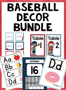 Baseball Classroom Decor *Growing Bundle*