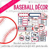 Baseball Classroom Decor Pack