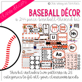 Baseball Classroom Decor Pack (Orange & Black)