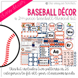 Baseball Classroom Decor Pack (Orange & Navy)