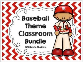 Baseball Classroom Theme Bundle