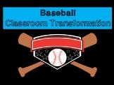 Back to School Baseball Classroom Transformation