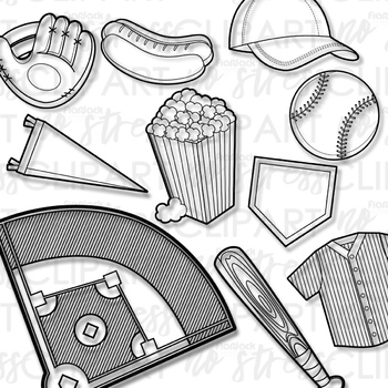 Baseball Clip Art (Digital Use Ok!)