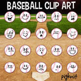 Baseball Clip Art, Emoticon, Facial Expressions, Sports Cl
