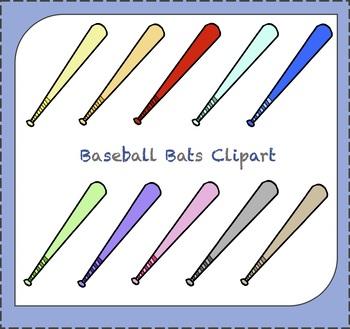 Baseball Clipart / Baseball Bats Clipart / Sports Clipart