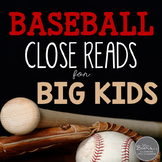Baseball Close Reading Informational Toolkit for Middle School