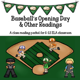 Baseball Close Reading for Grades 6-12 ELA