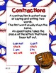 Baseball Contractions Literacy Center Memory Match