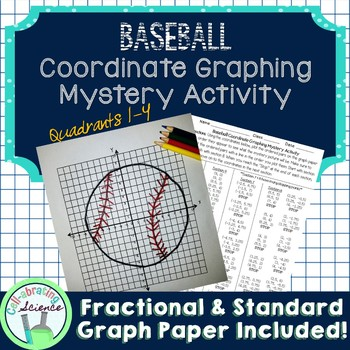 Baseball Coordinate Graphing Mystery Activity (4 quadrants)