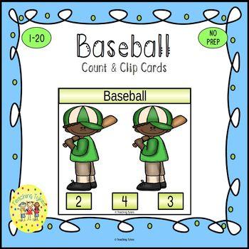 Baseball Clip Task Cards