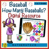 Baseball Counting Google Slides How Many Baseballs Numbers & Number Words