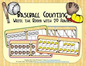Baseball Counting with 20 Frames {Subitizing}