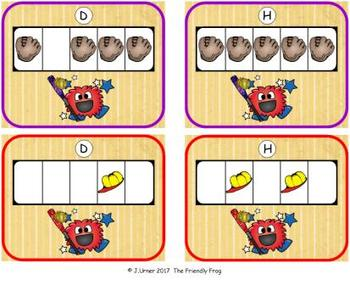 Baseball Counting with 5 Frames {Subitizing}