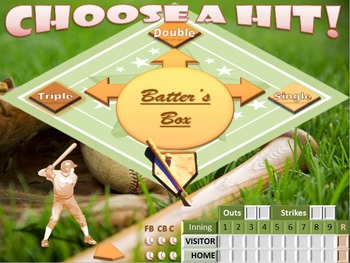 Baseball - Customizable PowerPoint Review Game