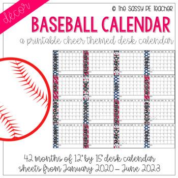 Baseball Desk Calendar