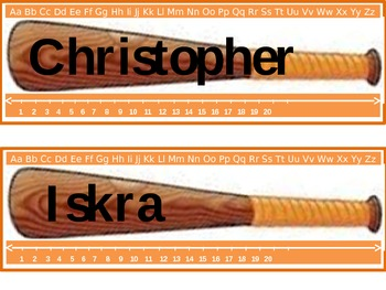 Baseball Desk Name Tags