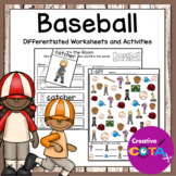 Baseball Differentiated Worksheets and Activities