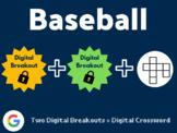 Baseball Digital Bundle (Digital Breakouts, Crossword, Google Classroom)