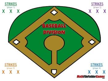 Baseball Division - 4th Grade Math Game [CCSS 4.NBT.B.6]