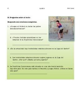 Thematic units (2) El béisbol  / La rana coquí - SP Intermediate 1