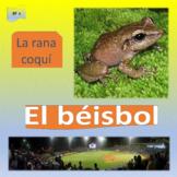 El béisbol (1),  La rana coquí (2), SP Intermediate 1