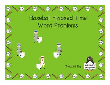 Baseball Elapsed Time Word Problems
