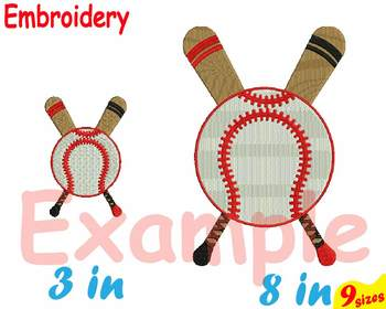 Baseball Embroidery Machine digital 4x4 5x7 hoop Stiches bat ball mom dad 86b