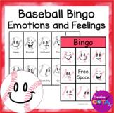 Baseball Emotions and Feelings Bingo