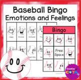 Baseball Activity Emotions and Feelings Bingo