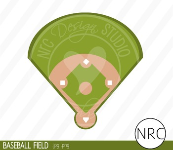 Baseball field clipart commercial use