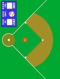 Baseball File Folder Game