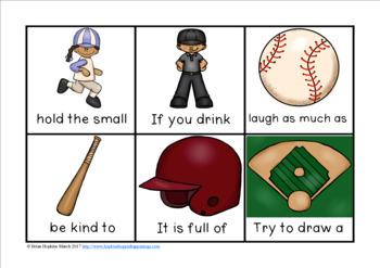Baseball Sight Word Fluency Phrases Race