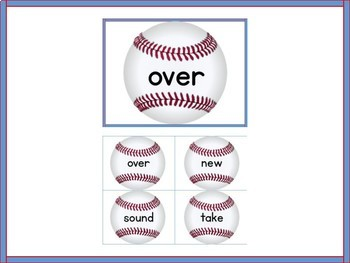 Baseball Fry List 1 From 2nd 100  High Frequency Sight Word Flashcards & Posters