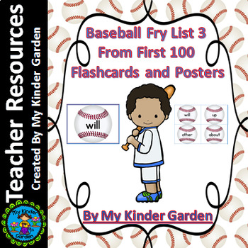 Baseball Fry List 3 From 1st 100 High Frequency Sight Word