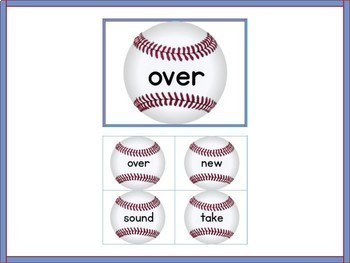 Baseball Fry 2nd 100 High Frequency Words Sight Word Flashcards and Posters
