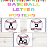 Baseball Full Page Alphabet Letter Posters / Word Wall Headers