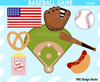 Baseball sports clipart commercial use