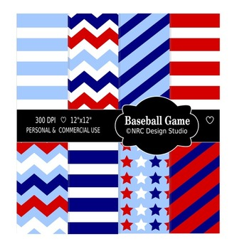 Baseball Game Paper Pack - Commercial Use Printable Papers