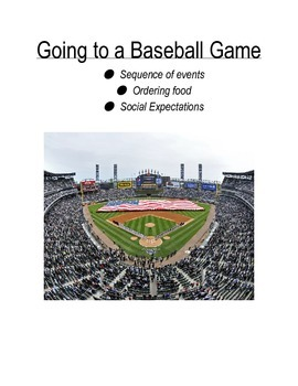 Baseball Game Social Unit {autism,social story/skills, sequening, scripting}