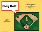Baseball Game Template--Use with any subject!