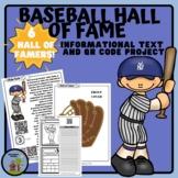 Baseball Hall of Fame Project & Make your own Baseball cards