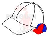 Baseball Hat 1 - Clip art, template