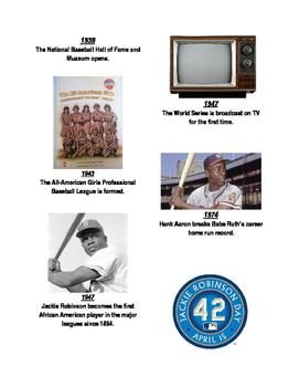 Baseball History Flashcards